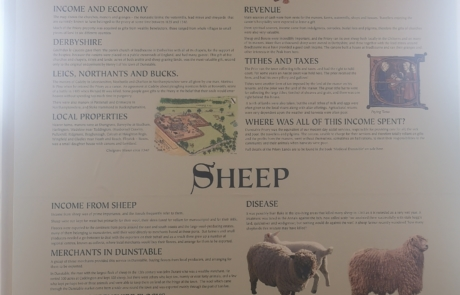 Manors wall at Priory House's medieval exhibition