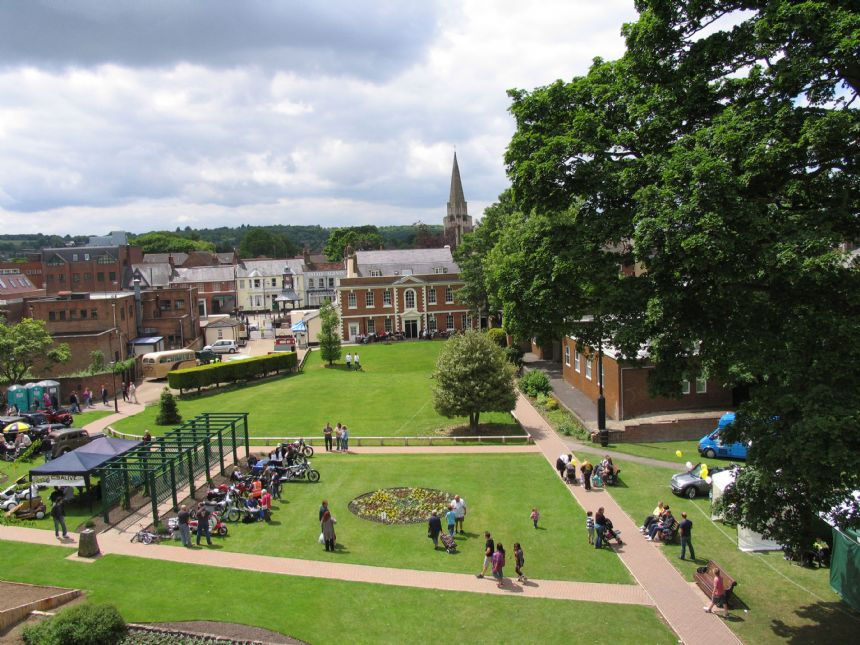 An Aerial view of Priory Gardens