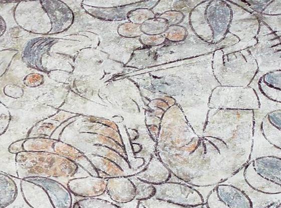 Tudor wall painting