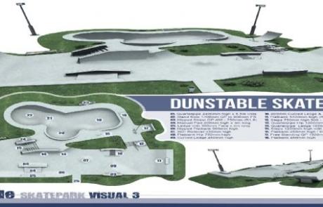 Dunstable Skate Park Visual mockup