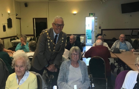 Dunstable Mayor with Gloria, winner of the GCC raffle