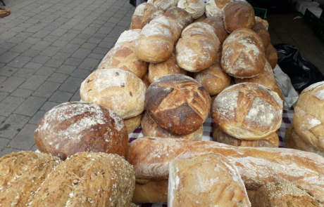 Bread for sale at Middle Row market