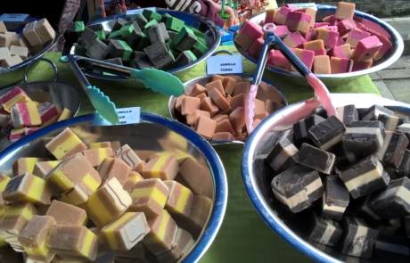 Fudge stall at Middle Row Market