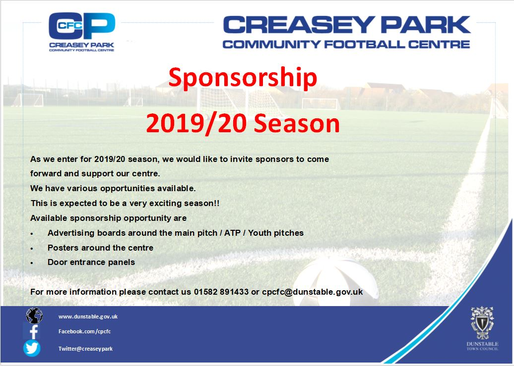CPCFC Sponsorship Packages