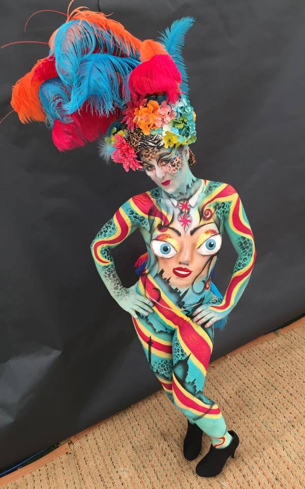 Body painted lady
